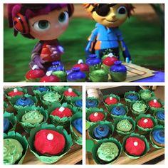 Beat bugs leaf cakes - so fun and easy! Did these for my daughters party