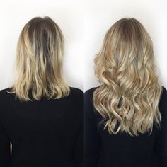 The Least damaging Extensions on the Market Party Hairstyles, Cool Hairstyles, Hair Extension Brush, Hair Extensions For Short Hair, Grow Hair, Fine Hair, Short Hair Styles, Hair Makeup, Hair Cuts