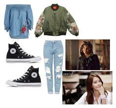 """Mila's/Shin's casual wear"" by pantsulord on Polyvore featuring Topshop and Converse"