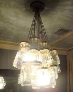 DIY Mason Jar Chandelier..