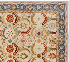 Eva Persian Style Rug | Pottery Barn  This Would Be Perfect In The