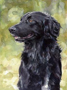 Custom Pet Portrait 5x7 Watercolor Painting