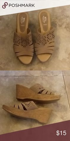 f114aef51d1a Shop Women s Spring Step Tan size 10 Wedges at a discounted price at  Poshmark.