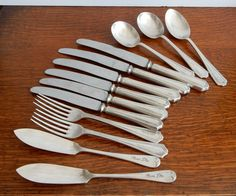 Vintage part set of EPNS Cutlery, shabby chic, retro , boho, kitchenware, Knifes, Butter Knifes,Forks,Spoons, by Route46Vintage on Etsy