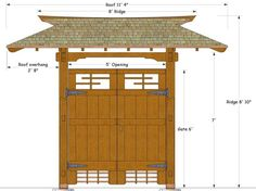 Three main elements found in every Japanese garden are: water, rocks and plants. This article focuses on the arrangement of rocks, their aesthetic qualities and their many pratical uses within your garden design. Japanese Fence, Japanese Tea House, Japanese Garden Design, Japanese Style, Japanese Gardens, Roof Design, Fence Design, House Design, Japanese Furniture