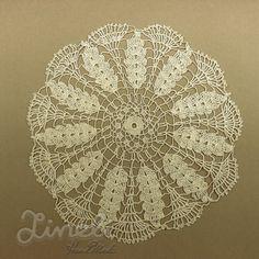 Vintage Handmade Crochet Lace Doily  Lace por LineliHandmade