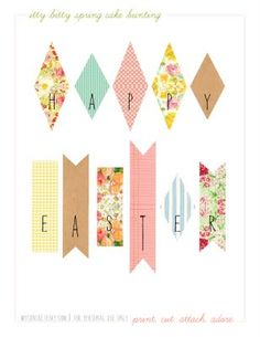 Printable cake bunting for Easter.