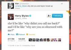 this is why people like Harry Styles and Taylor Swift is single.