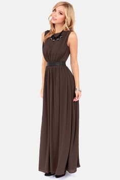 LULUS Exclusive Height of My Life Sable Maxi Dress at LuLus.com! #lulus #holidaywear