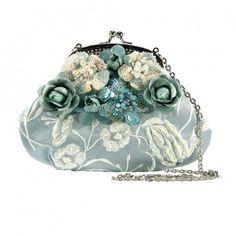 Mary Frances Don't Be Blue Handbag