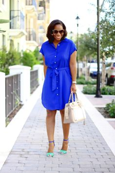 "Cobalt Blue Dress + Zara Bag  ""Something Blue"""