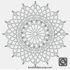 Afbeeldingsresultaat voor mandalas tejidas a crochet patrones Mandala Au Crochet, Crochet Doily Patterns, Crochet Diagram, Crochet Chart, Thread Crochet, Crochet Doilies, Crochet Stitches, Dream Catcher Crochet Pattern, Doilies Crafts