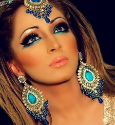 Makeup Trends: What's In and What's Out   South Asian Life beautiful turquoise indian make up