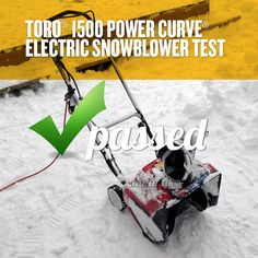 Toro® 1500 Power Curve® Electric Snowblower Review. We put it through some rough times and it performed like a champ. http://dadand.com/toro1500/