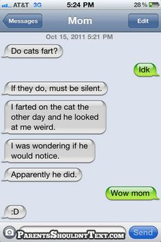 ParentsShouldntText.com - this is my favorite post on this fabulous site