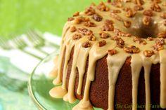 The Café Sucré Farine: Pumpkin Buttermilk Pound Cake w/ Caramel Icing & Rosemary-Roasted Honey Walnuts