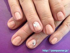 手元がキラッときれいに見える全体塗りネイル Paint the entire nail clean look and Kiratsu is at hand