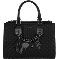 50c6b4d517 Guess Handle Bag - Strassie Society Satchel Black - in black - Handle.