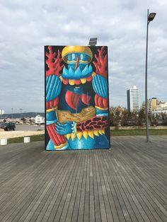 Molhe norte,Figueira da Foz,street art Street Art, City, Norte, Lugares
