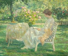 Summer Afternoon in the Garden. Evert Pieters (Dutch, 1856-1932). Oil on canvas.