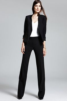 Theory Lanai Urban Blazer, $375, available at Bloomingdale's; Theory Emery 2 Urban Trousers, $275, available at Bloomingdale's.