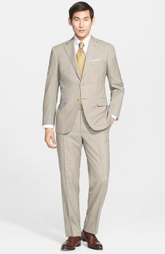 Canali+Classic+Fit+Solid+Wool+Suit+available+at+#Nordstrom