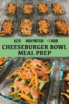 High Protein Low Carb Cheeseburger Bowl Meal Prep – Belle of the Barbell High Protein Snacks, High Protein Meal Prep, Easy Healthy Meal Prep, High Protein Low Carb, High Protein Recipes, Easy Healthy Recipes, Easy Meals, High Protein Lunch Ideas, High Protein Dinner