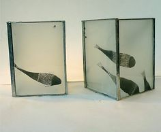 Fish lamps by French stained glass artist Julie Bernard