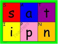 SATPIN Playmats Initial Sounds, Jolly Phonics, My Teacher, Early Childhood, Spelling, Literacy, Jay, Initials, Alphabet