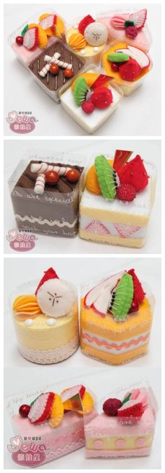 手工 不织布 蛋糕 甜点