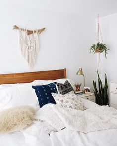 Playing around with different patterns and textures in this room lately. ✨ Can't wait to jump into this pile of pillows and blankets later on for a good `ol fashioned date night at home: chinese food and movies in bed. We would do this once a week when we were dating and it was always our favorite date night to look forward to...comfy clothes, good food, and cuddles. So happy we still keep this tradition alive. ❤️ Hope everyone has an amazing weekend @liketoknow.it www.liketk.it/2cw2M…