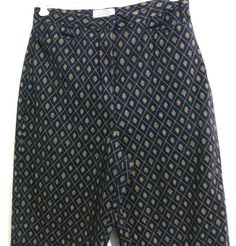 Talbots Stretch Pants Print Pattern Cotton Blend  Size 10  #Talbots #CasualPants
