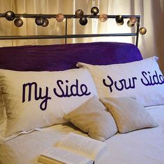 Pillow Talk Pillowcases my side your side