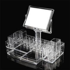 Women Ladies Makeup Cosmetics Transparent Organizer Clear Acrylic Box Storage