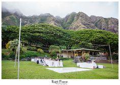 www.RightFrame.net - Kualoa Ranch Wedding Reception, Paliku Gardens, Hawaii Destination Wedding. Oahu Weddings Photography Ideas.