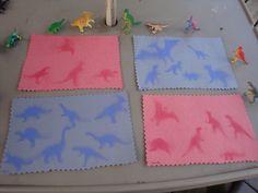 "Dinosaur sun ""fossil"" prints"