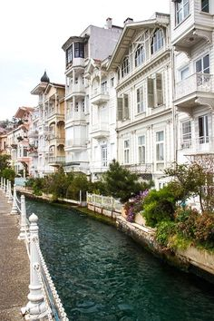 Traditional houses are beyond beautiful in Istanbul. Historic neighborhood of Arnavutköy in Istanbul, Turkey Places Around The World, Oh The Places You'll Go, Travel Around The World, Places To Travel, Travel Destinations, Places To Visit, Turkey Destinations, Wonderful Places, Beautiful Places