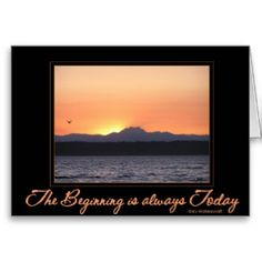 Sunset with bird -Beginning is Always Today Cards