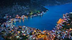Beautiful villages kastelorizo island greece