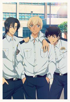 Dc Police, Police Story, Detective Conan Wallpapers, Kaito Kid, Amuro Tooru, Detektif Conan, Kudo Shinichi, Magic Kaito, Case Closed