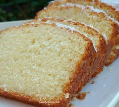 Yummy Moist Coconut Pound / Loaf Cake