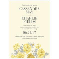Clarissa Camomile Wedding Invitations