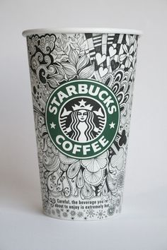 s-bucks doodle. Good example for a zentangle lesson!
