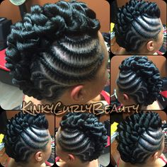 Really love this hair! Natural Hair Braids, Natural Hair Updo, Braids For Black Hair, Natural Hair Styles, Mohawk Hairstyles, African Braids Hairstyles, Mohawk Updo, Updo Hairstyle, Girls Braids