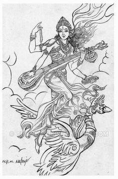 Saraswathi by thandav on DeviantArt