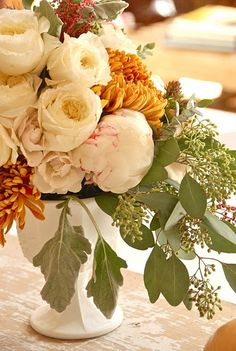 A Beautiful Bouquet for the bridal table