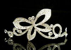 WBH126 Crystal Butterfly Tiara Crown Hair Headband Bridal Wedding Pageant Prom #Tiara