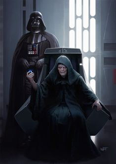 Darth Vader and the Emperor of the Galactic Empire and Dark Lord of the Sith, Darth Sidious. by Darren Tan Star Wars Pictures, Star Wars Images, Sith Lord, Jedi Sith, Star Wars Jedi, Anakin Vader, Anakin Skywalker, Darth Maul, Cuadros Star Wars