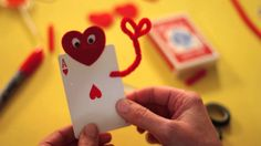 Easy Valentines Cards with a Deck of Cards!