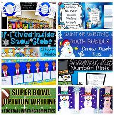 Kindergarten Korner by Casey: Wonderful Winter Resources: Math & Writing Primary Ideas Winter Bulletin Boards Winter Math Center Winter Craft and Writing Ideas Winter Journal Prompts